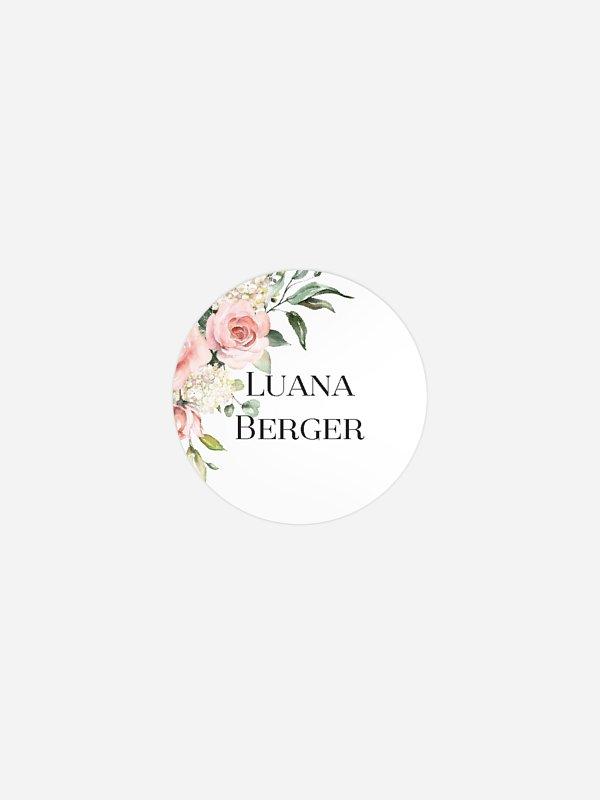 Geschenkaufkleber personalisiert Soft Florals