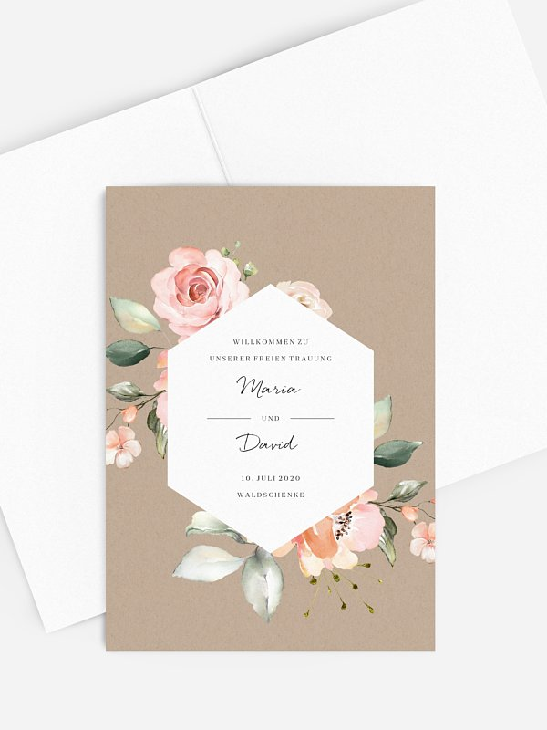 Kirchenheft Hochzeit Soft Florals