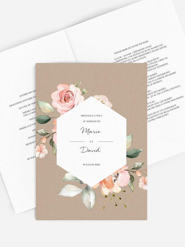 Livret de messe mariage Soft Florals