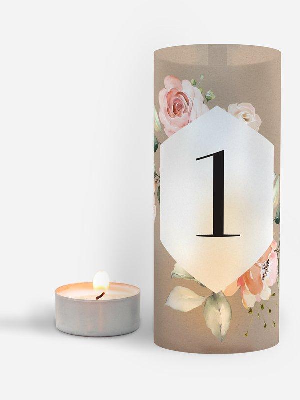 Tischnummer Soft Florals