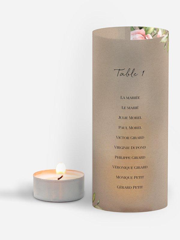Nom de table mariage Soft Florals