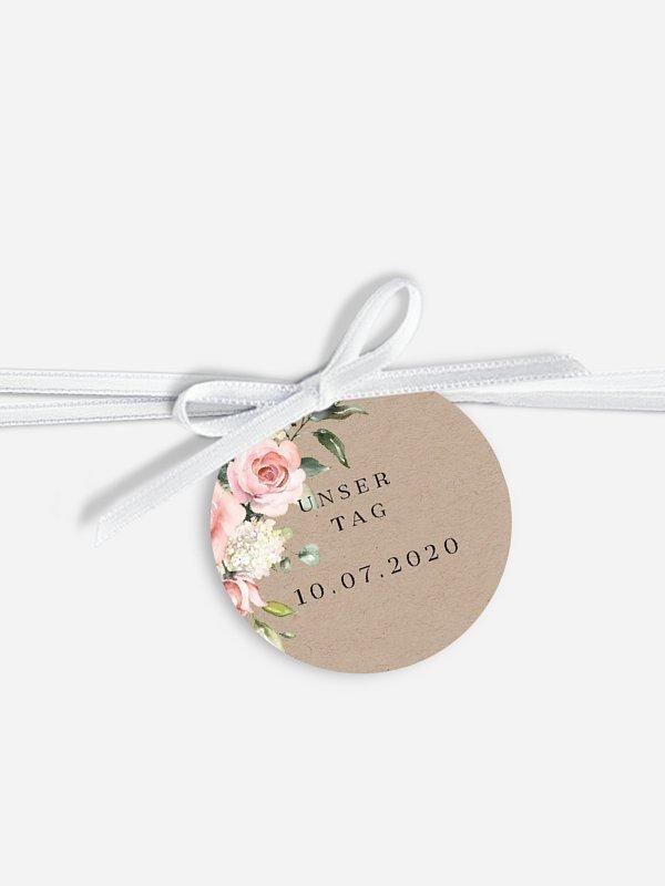Anhänger mit Band zur Hochzeit Soft Florals