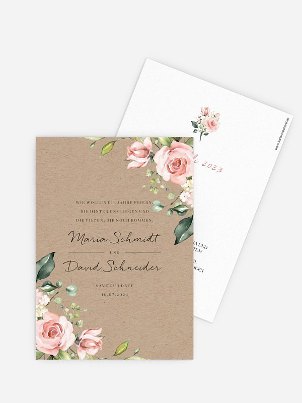 Save-the-Date Karte Soft Florals