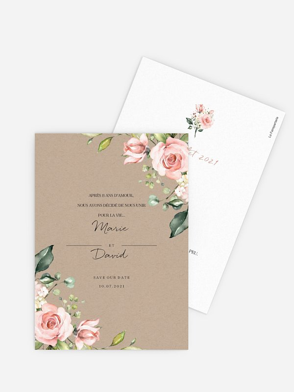 Save the date Soft Florals