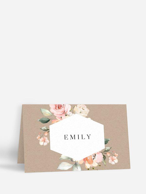 Tischkarte Hochzeit Soft Florals