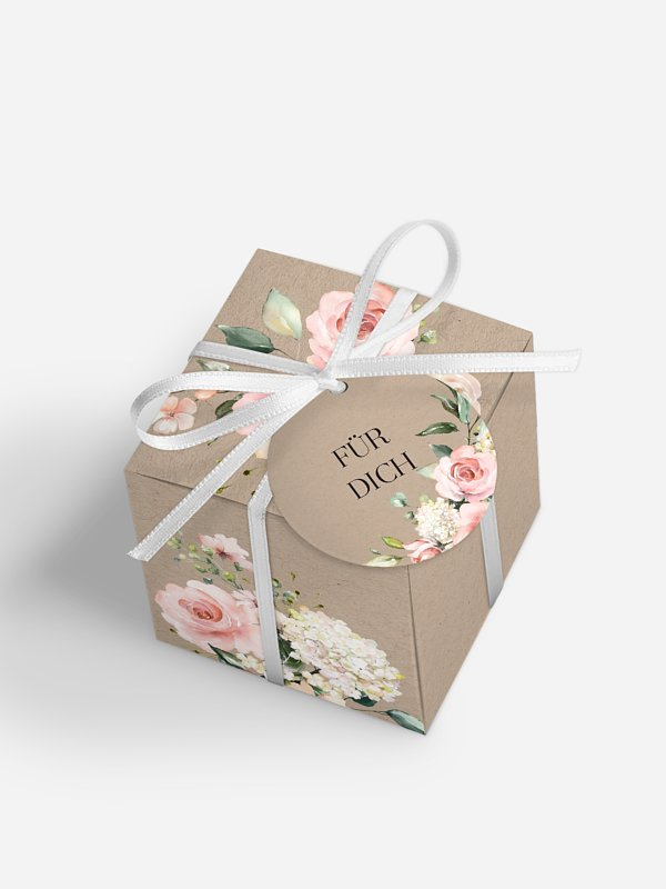 Gastgeschenkbox Soft Florals