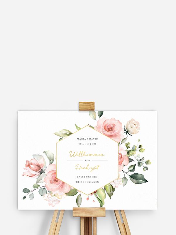Willkommensschild Soft Florals