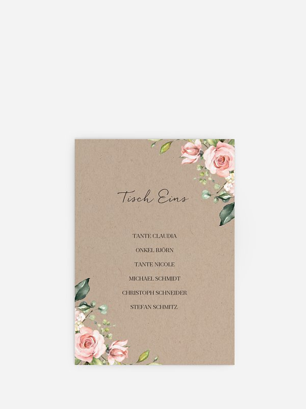 Sitzplan Kreativ Soft Florals