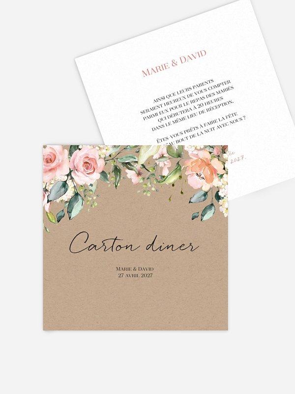 Carton d'invitation Soft Florals