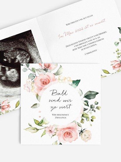 """Schwangerschaftskarten """"Soft Florals"""""""