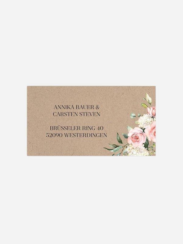 Empfängeraufkleber Hochzeit Soft Florals
