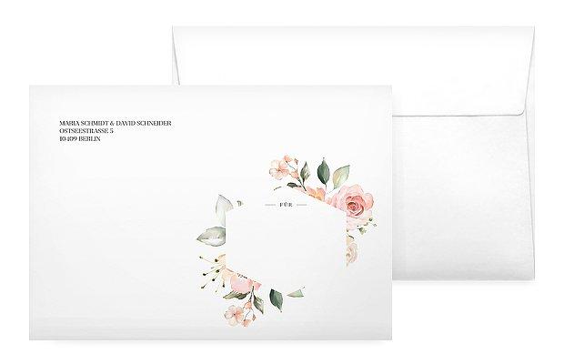 Briefumschlag mit Motiv Soft Florals