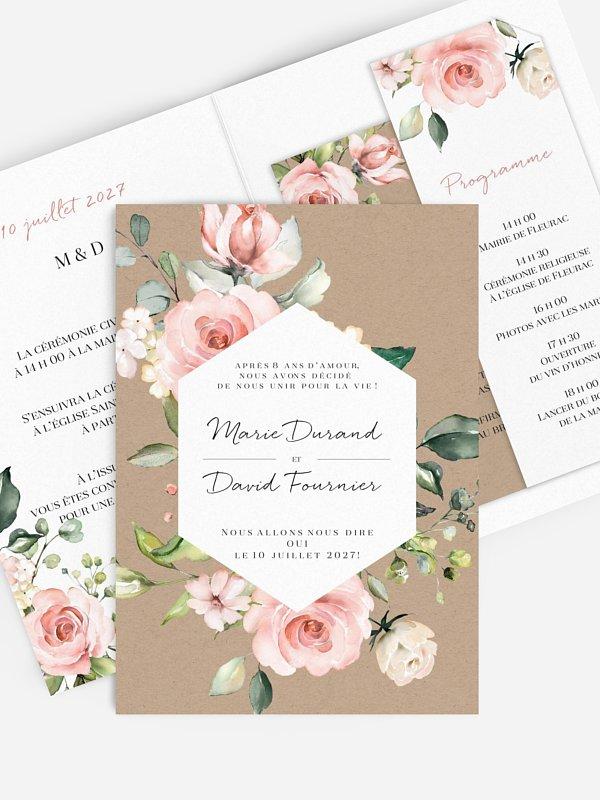 Faire-part de mariage Soft Florals