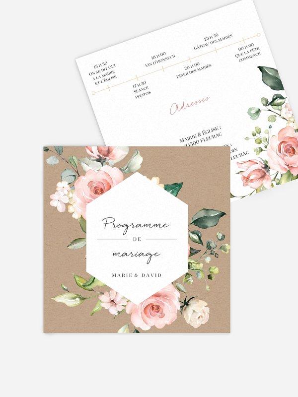 Programme mariage Soft Florals