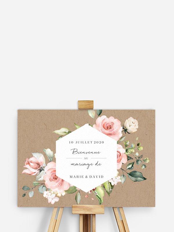 Poster bienvenue mariage Soft Florals