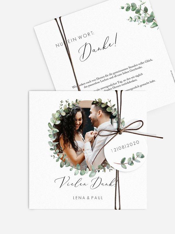 Dankeskarte Hochzeit Green Minimal