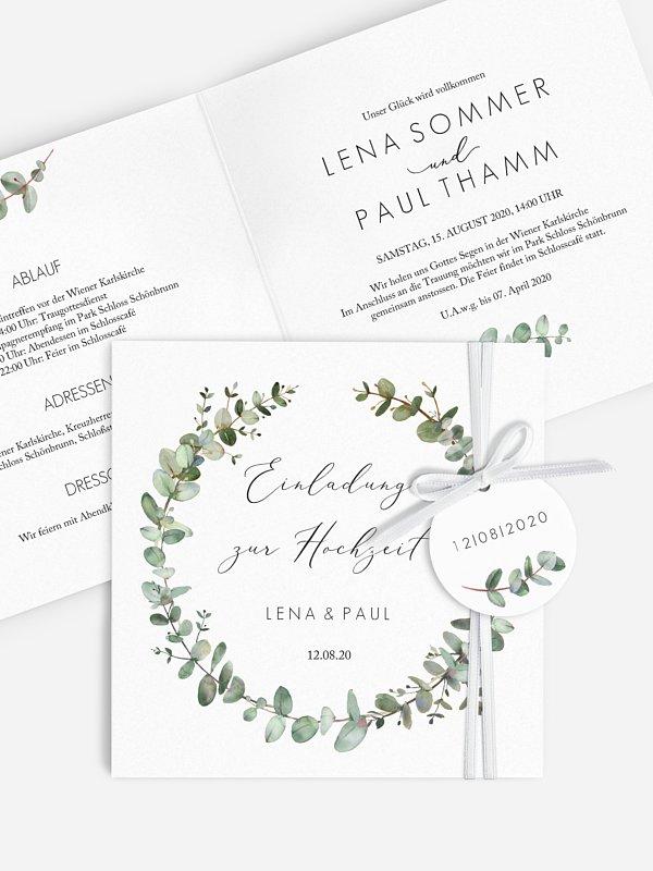 Hochzeitseinladung Green Minimal