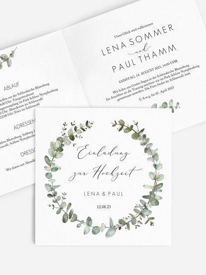 """Hochzeitseinladung """"Green Minimal"""""""