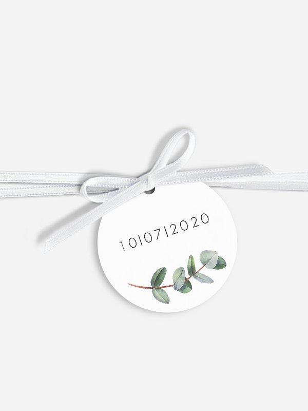 Étiquette avec ruban Green Minimal