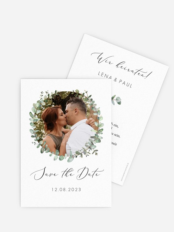 Save-the-Date Karte Green Minimal
