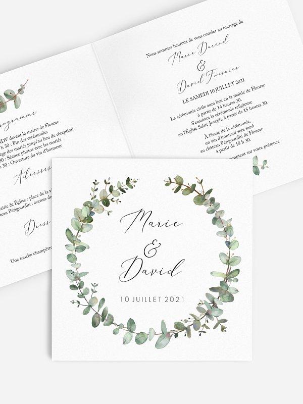 Faire-part de mariage Green Minimal