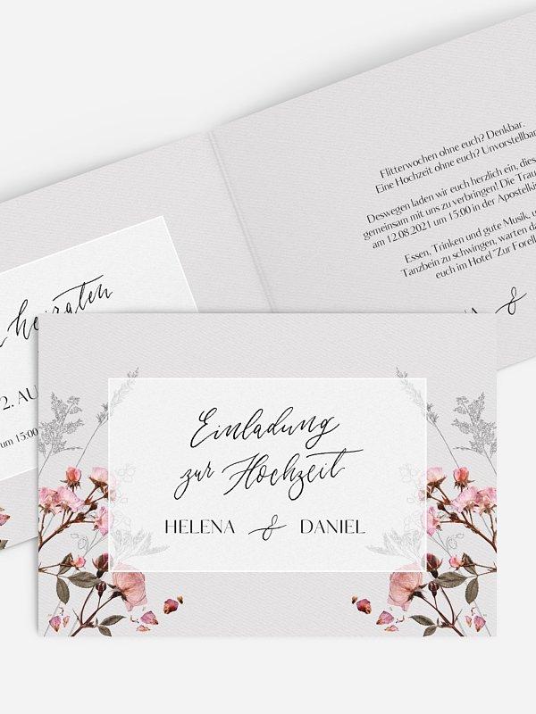 Hochzeitseinladung Herbarium