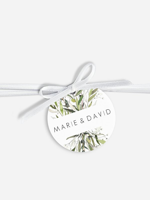 Étiquette avec ruban Italia