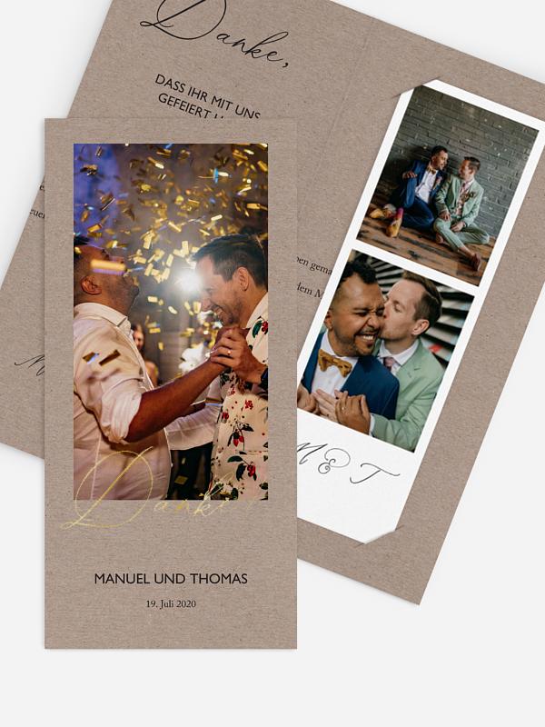 Dankeskarte Hochzeit Rustic Chic