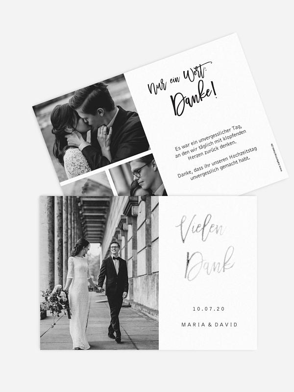 Dankeskarte Hochzeit Goldrush
