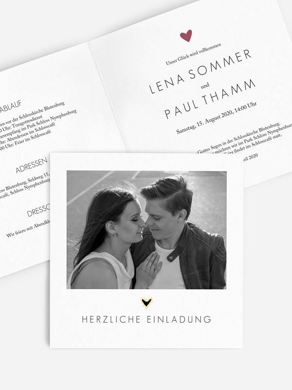 Hochzeitseinladung Shimmering Love