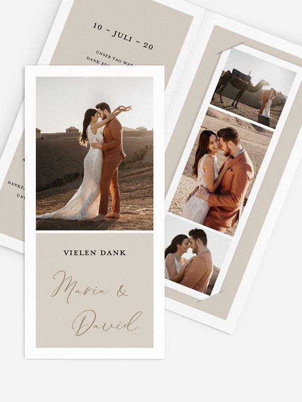 Dankeskarte Hochzeit Timeless