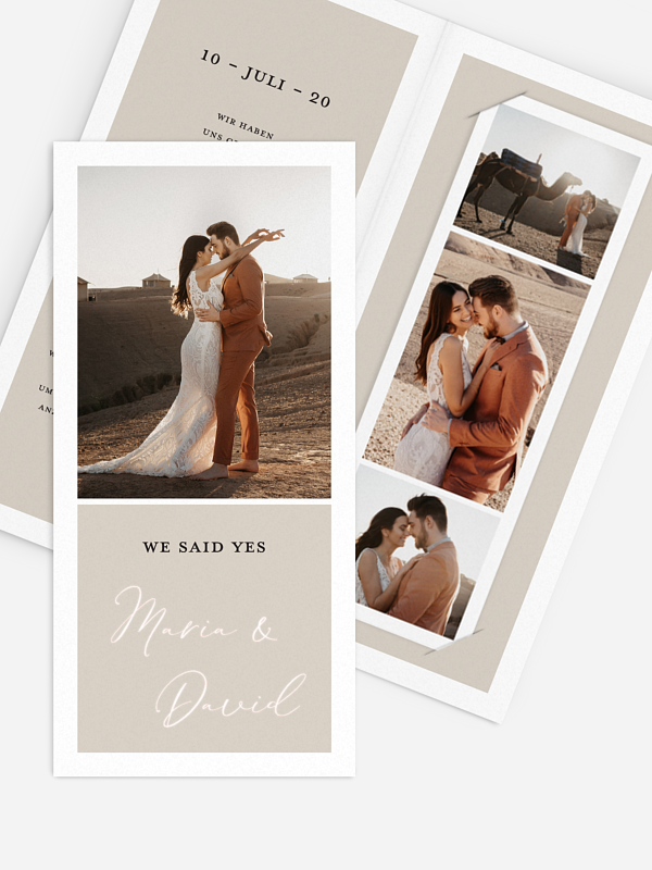 We-said-yes Karte Timeless