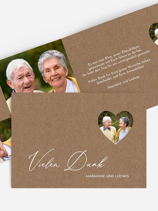 Danksagung zur Goldenen Hochzeit First Love