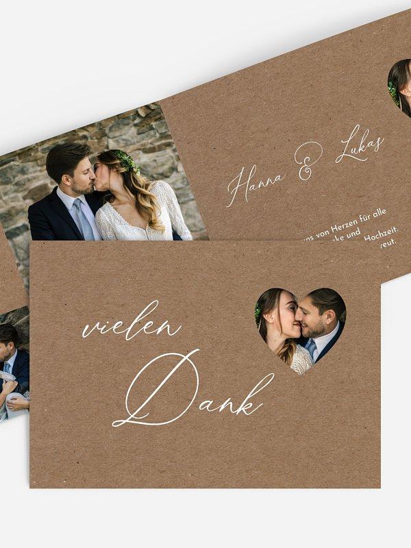 Dankeskarte Hochzeit First Love