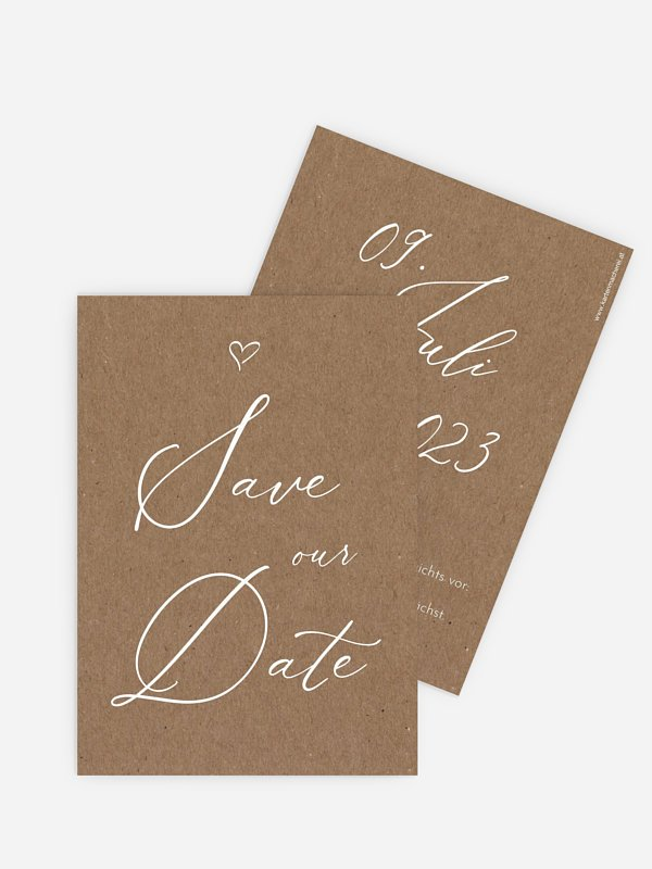 Save-the-Date Karte First Love