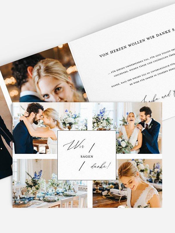Dankeskarte Hochzeit Love Letter