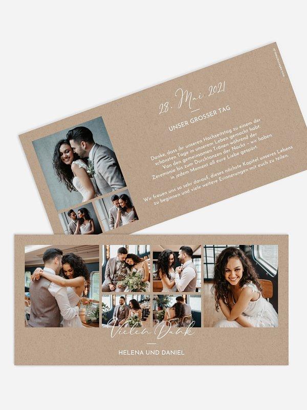 Dankeskarte Hochzeit Duett