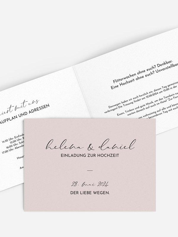 Hochzeitseinladung Duett