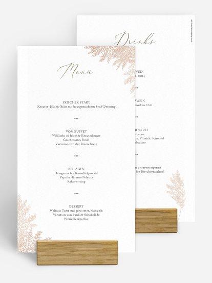 """Menükarte Hochzeit """"Blush Pampas"""""""