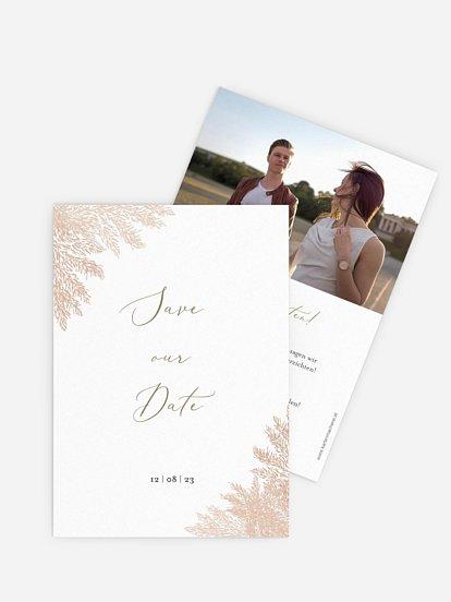 "Save-the-Date Karte ""Blush Pampas"""