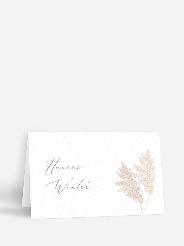 Tischkarte Hochzeit Blush Pampas