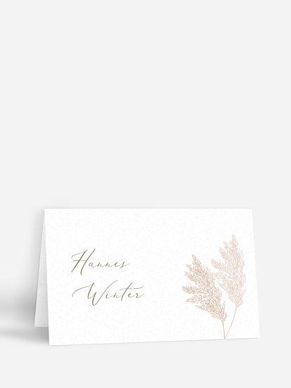 """Tischkarte Hochzeit """"Blush Pampas"""""""