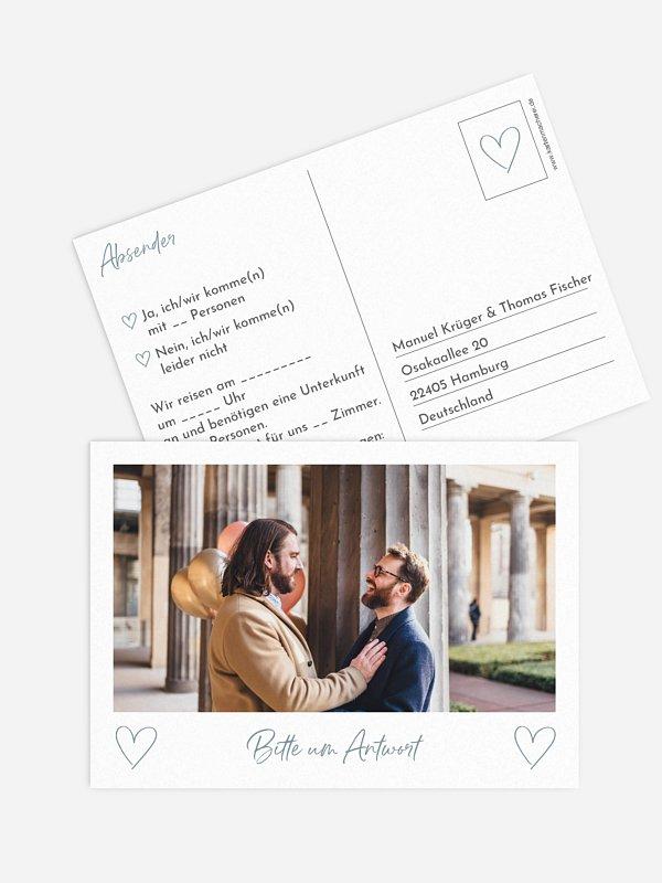 Antwortkarte Hochzeit Analogbild