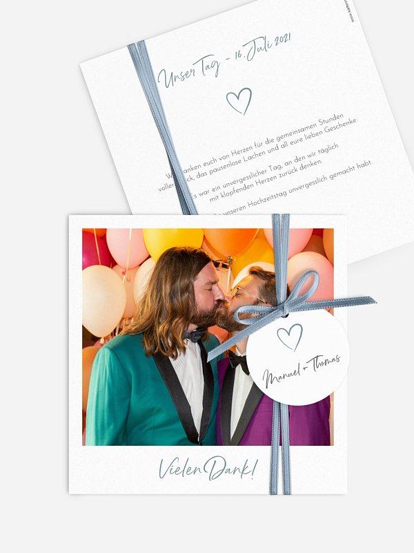 Dankeskarte Hochzeit Analogbild