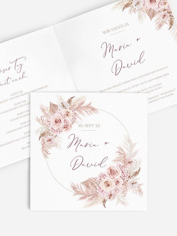 Hochzeitseinladung Blush Bloom