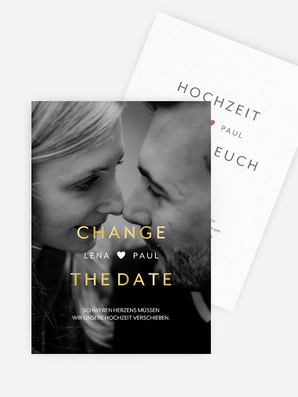 Change-the-Date Karte We Belong Together