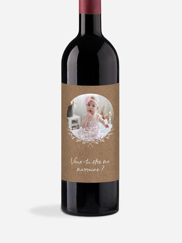 Étiquette bouteille Aujourd'hui et demain