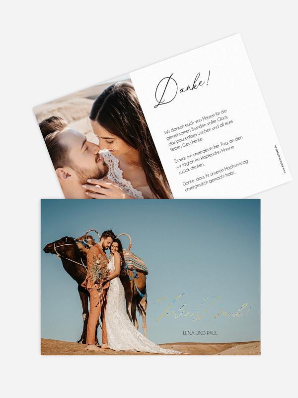 Dankeskarte Hochzeit Love Is A Journey