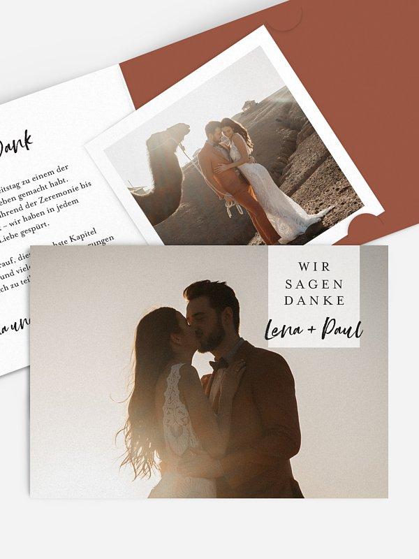 Dankeskarte Hochzeit Tuscany