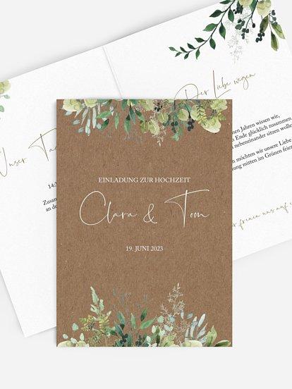 "Hochzeitseinladung ""Rustic Green Magic"""